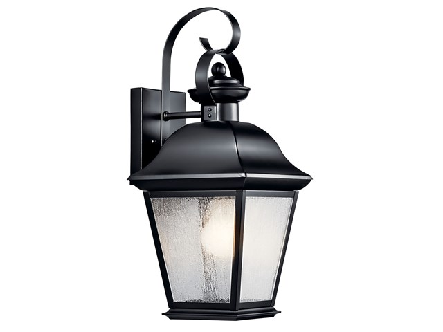 "Mount Vernon 16.75"" 1 Light Wall Light Black"