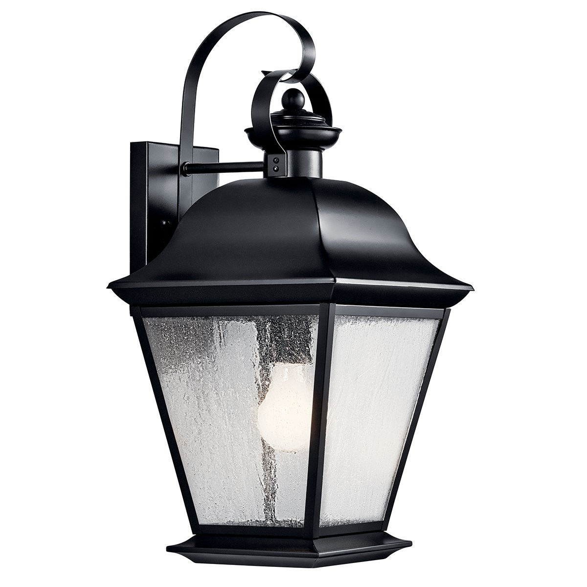 "Mount Vernon 19.5"" 1 Light Wall Light Black"