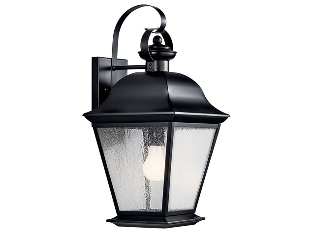 "Mount Vennon 19.5"" 1 Light Wall Light Black"