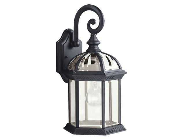 "Barrie™ 15.5"" 1 Light Wall Light Black"