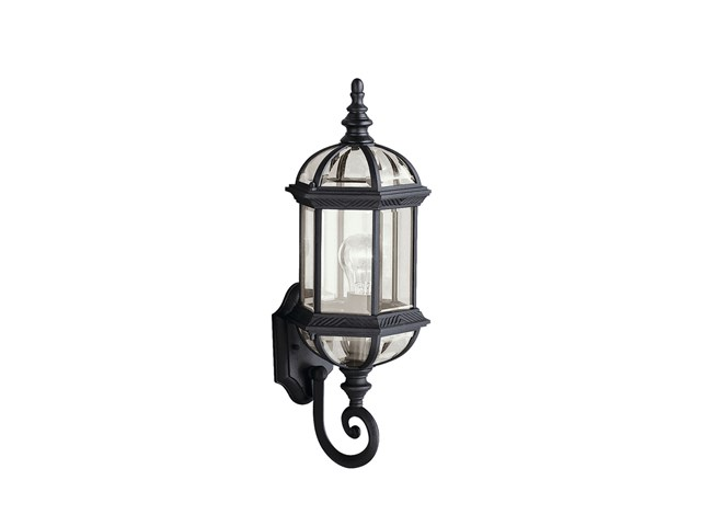 "Barrie™ 21.75"" 1 Light Wall Light Black"