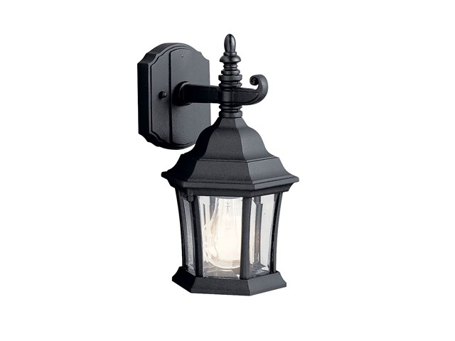 Townhouse 1 Light Wall Light Black