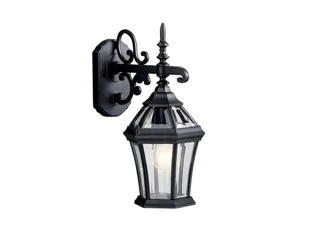 "Townhouse 15.25"" 1 Light Wall Light Black"