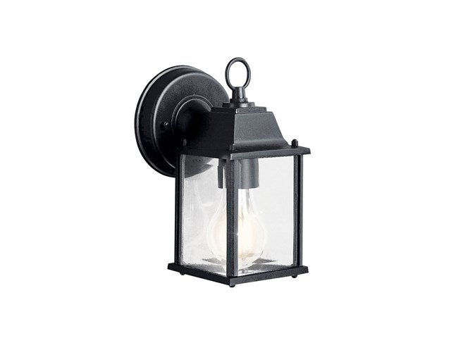 "Barrie™ 8.5"" 1 Light Wall Light with LED Bulb Black"