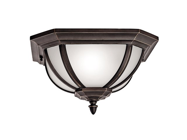 Salisbury™ 2 Light Flush Mount Rubbed Bronze™