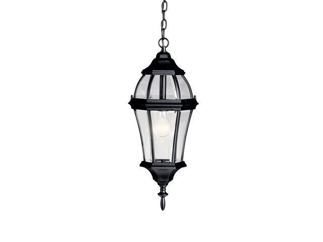 Townhouse 1 Light Pendant Black