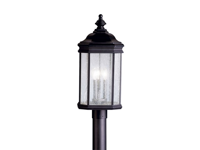 Kirkwood™ 3 Light Post Light Black
