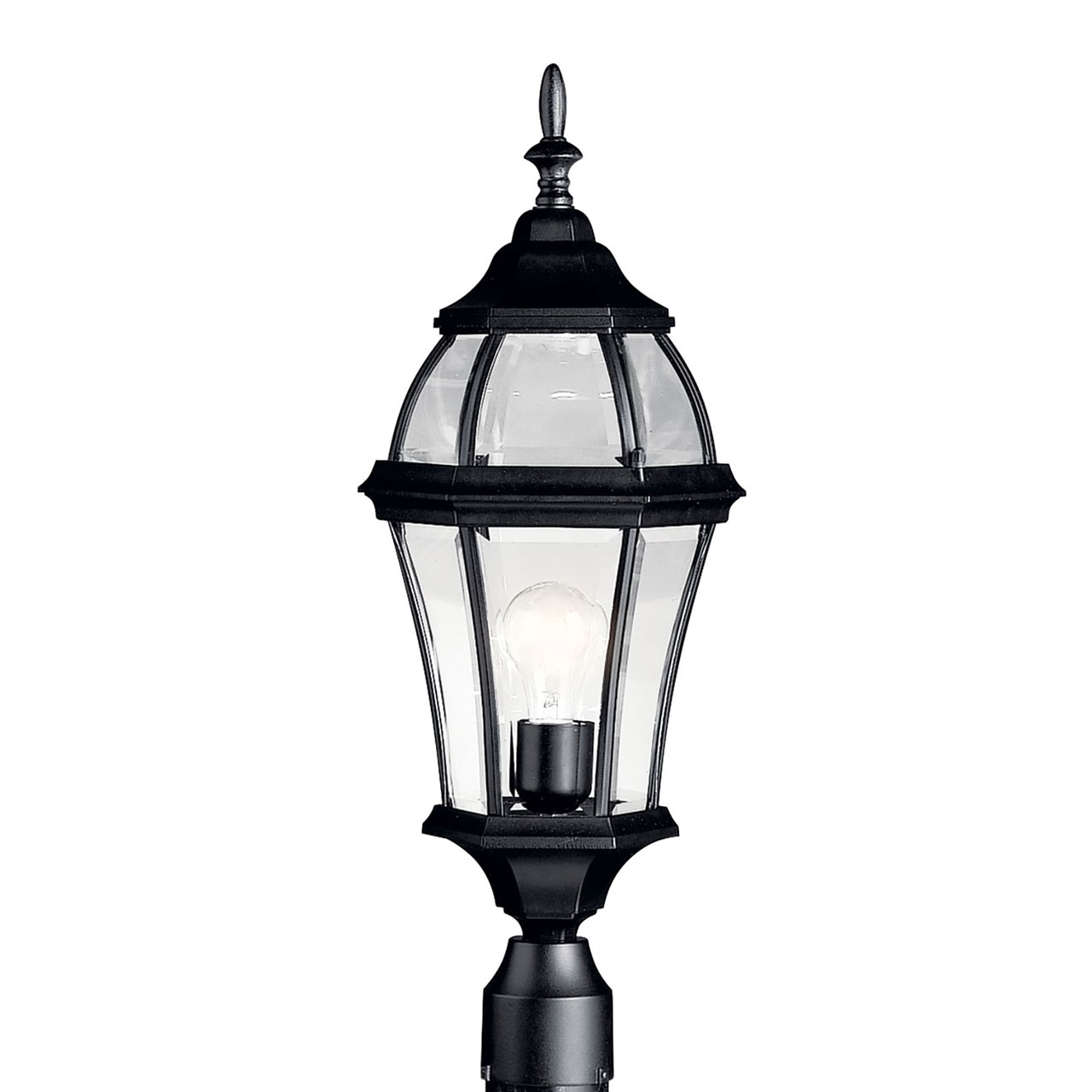 Townhouse 1 Light Post Mount Black