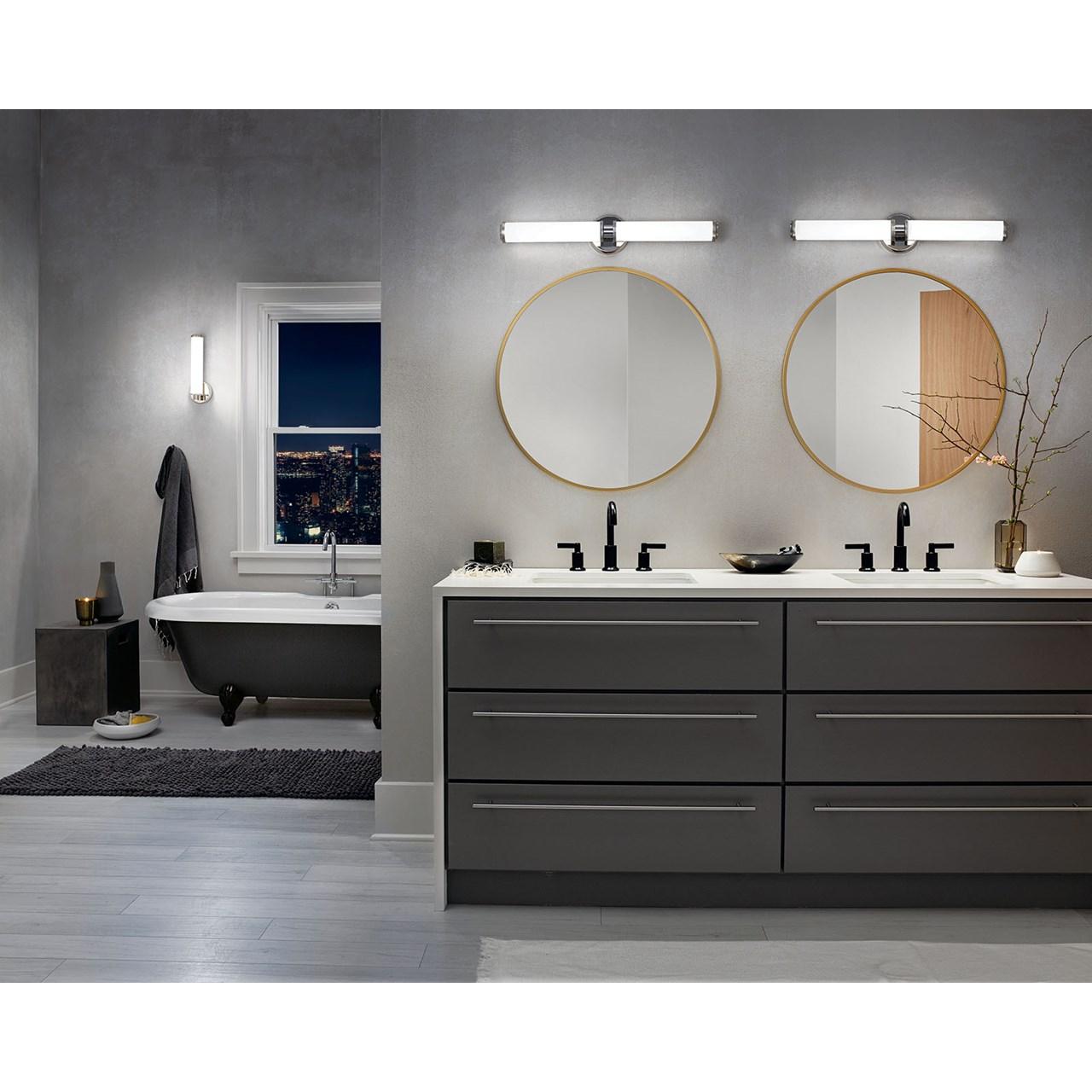 Indeco 27 Led Linear Vanity Light In Polished Nickel Kichler Lighting