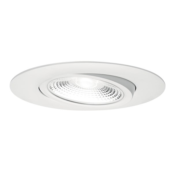 "Direct-to-Ceiling 6"" Round Gimbal 3000K LED Downlight White"