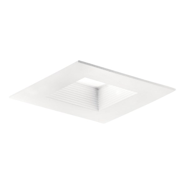 "Direct-to-Ceiling 4"" Square Recessed 3000K LED Downlight White"