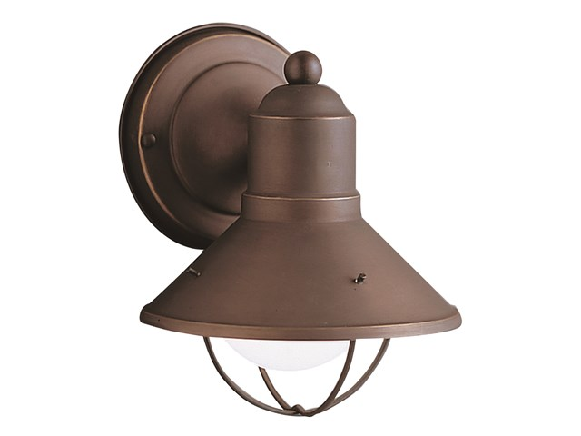 "Seaside™7.5"" 1 Light Outdoor Wall Light with Glass Globe Olde Bronze®"